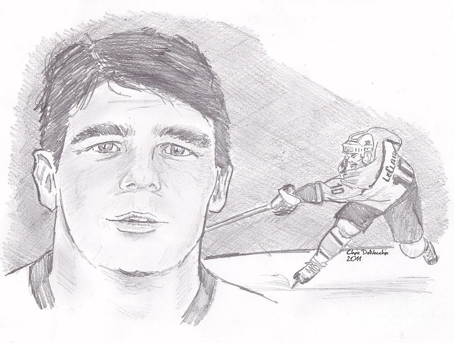 Philadelphia Drawing - John Leclair by Chris  DelVecchio