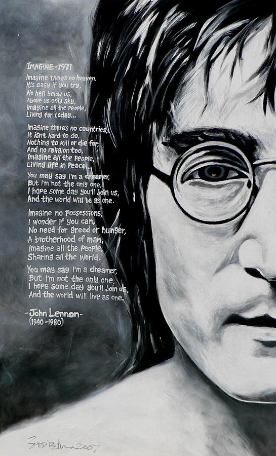 John Lennon - Imagine Painting  - John Lennon - Imagine Fine Art Print