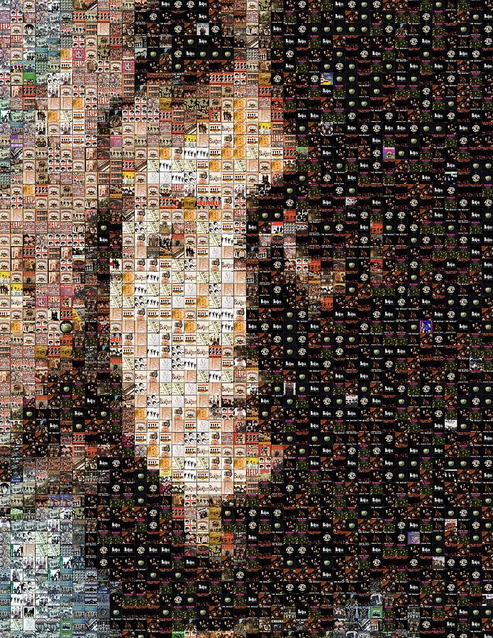 John Lennon Beatles Albums Mosaic Photograph
