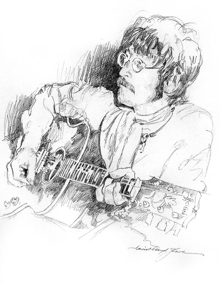 John Lennon Drawing  - John Lennon Fine Art Print