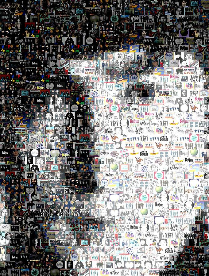 John Lennon Mosaic Mixed Media