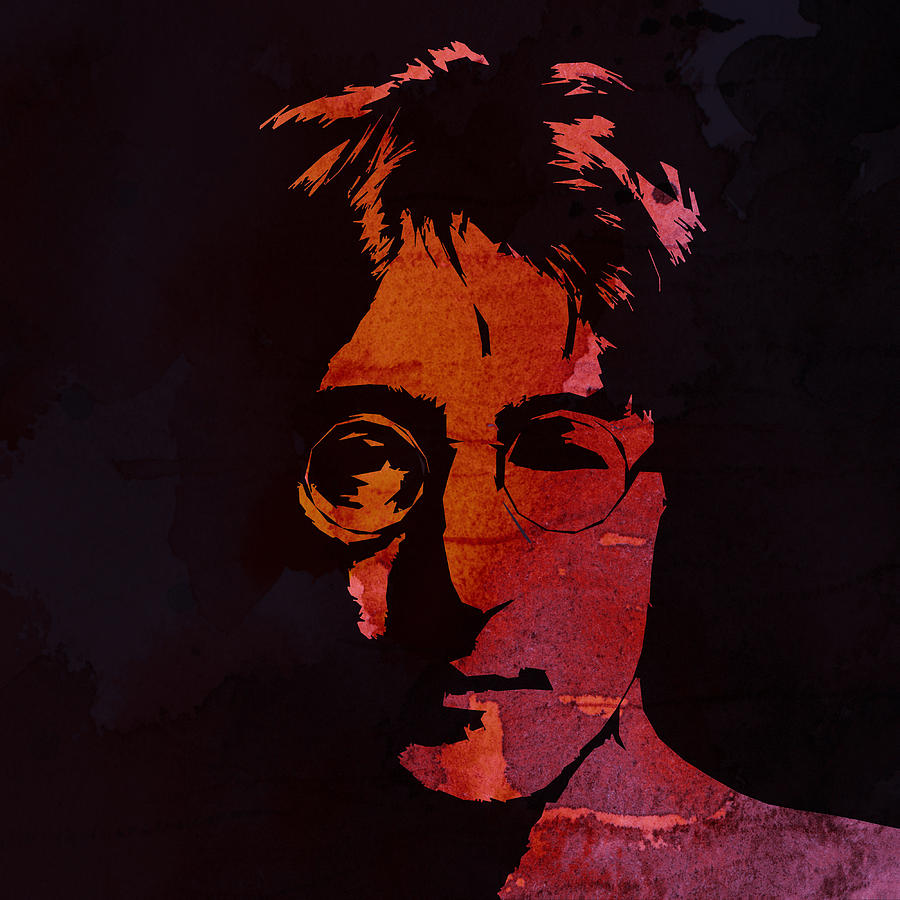 John Lennon Watercolor Painting  - John Lennon Watercolor Fine Art Print