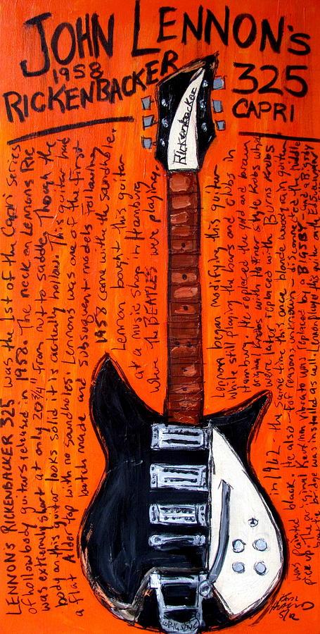 John Lennons Rickenbacker Painting