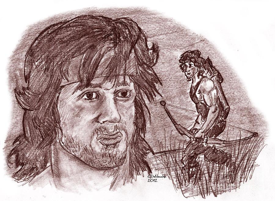 John Rambo Drawing
