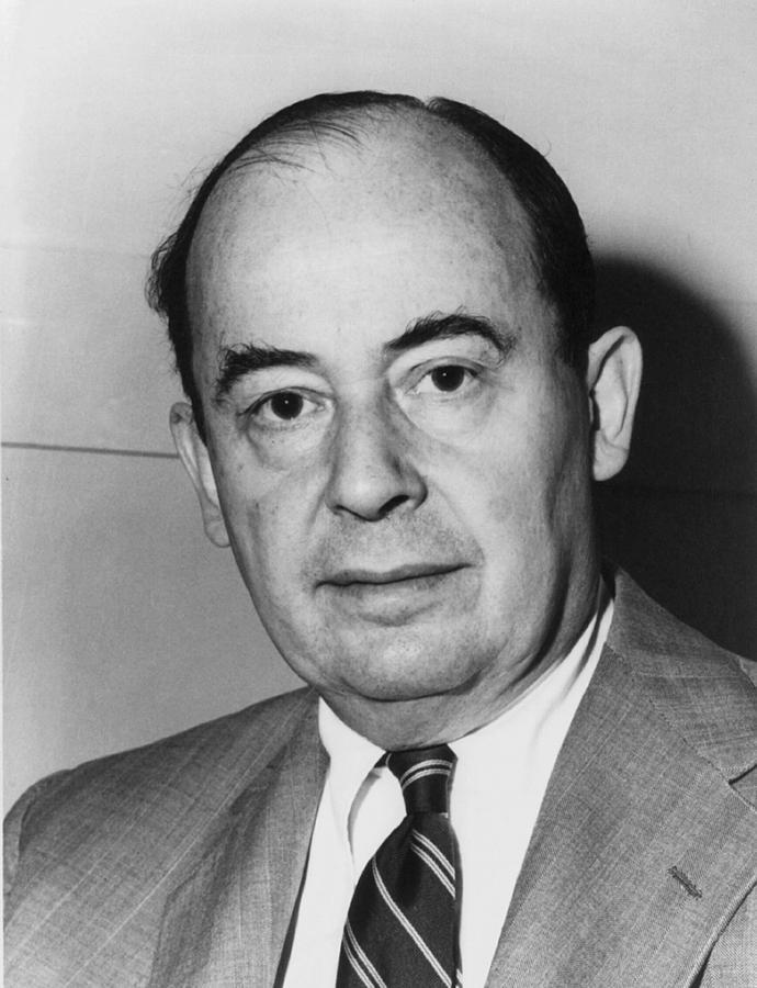 John Von Neumann 1903-1957 Photograph