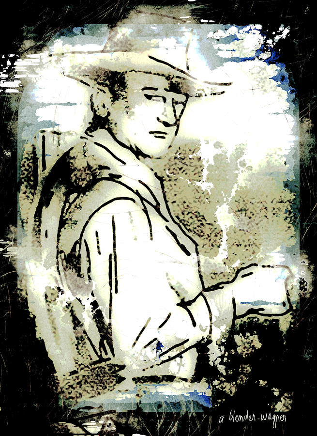 John Wayne Digital Art