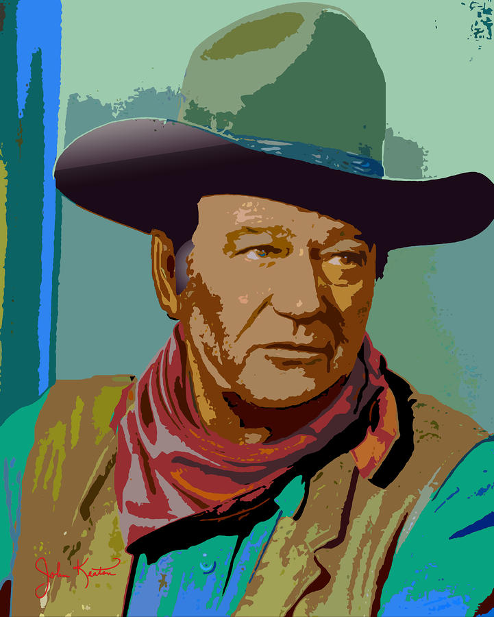 John Wayne Digital Art Keaton Fine Prints And