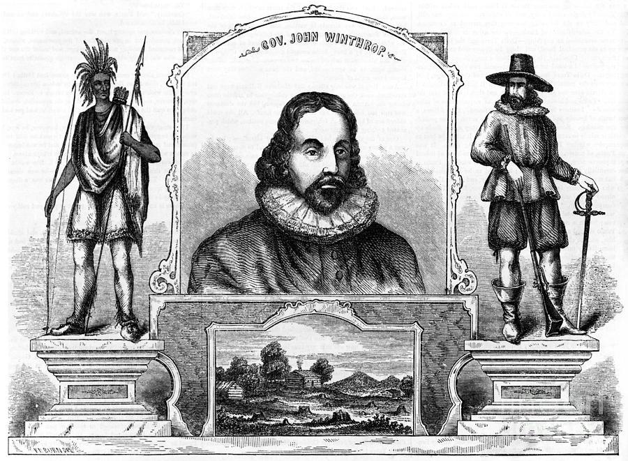 History Photograph - John Winthrop, English Puritan Lawyer by Photo Researchers