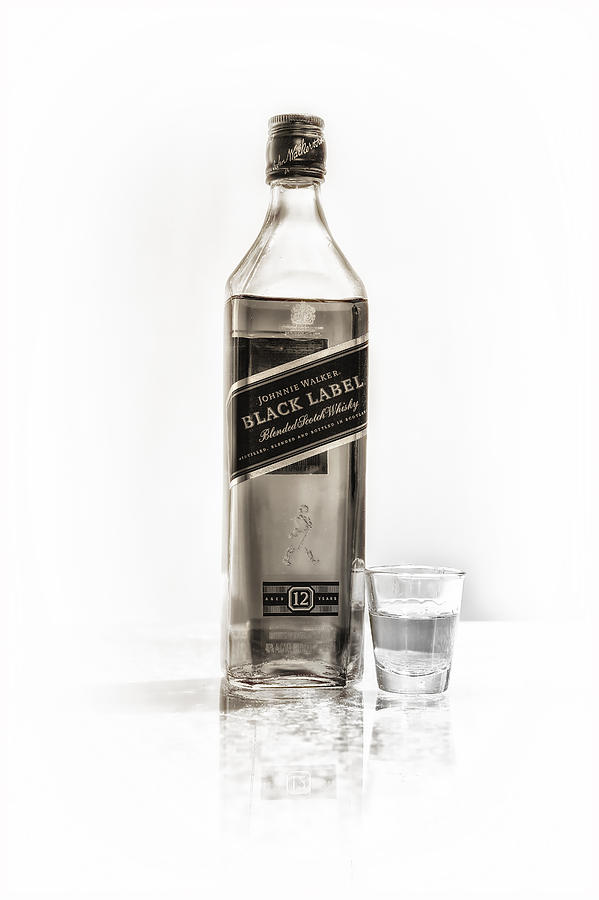 Johnnie Walker Black Label Photograph  - Johnnie Walker Black Label Fine Art Print