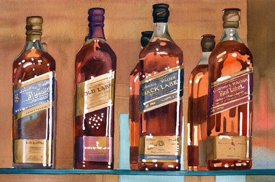Johnnie Walker Painting  - Johnnie Walker Fine Art Print
