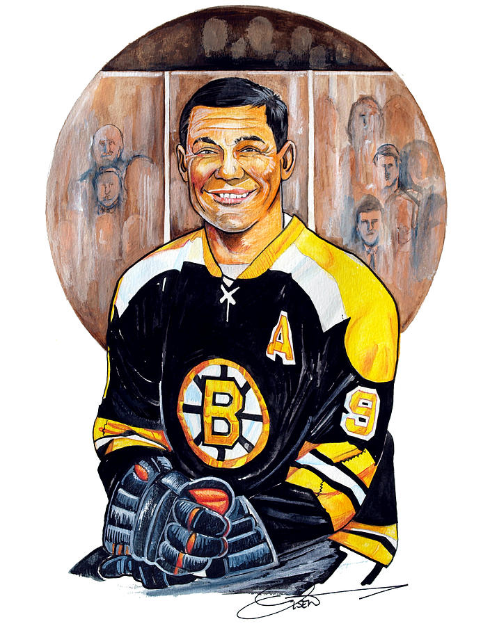 Johnny Bucyk Painting - Johnny Bucyk by Dave Olsen