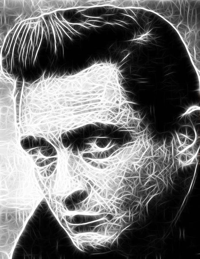 Johnny Cash Drawing  - Johnny Cash Fine Art Print