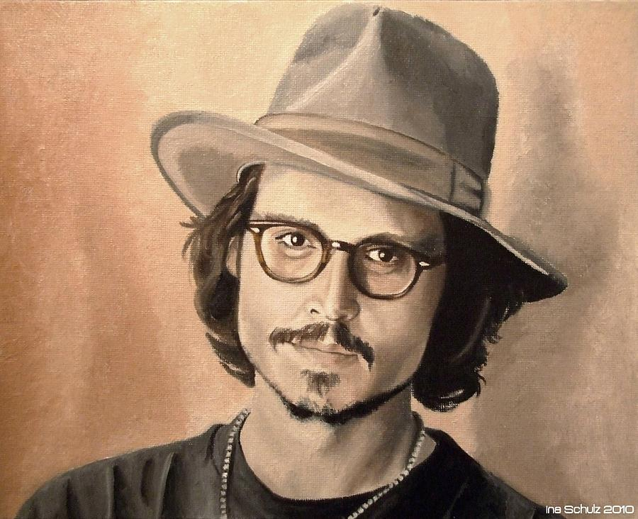 Johnny Depp - Japan 2006 Painting  - Johnny Depp - Japan 2006 Fine Art Print
