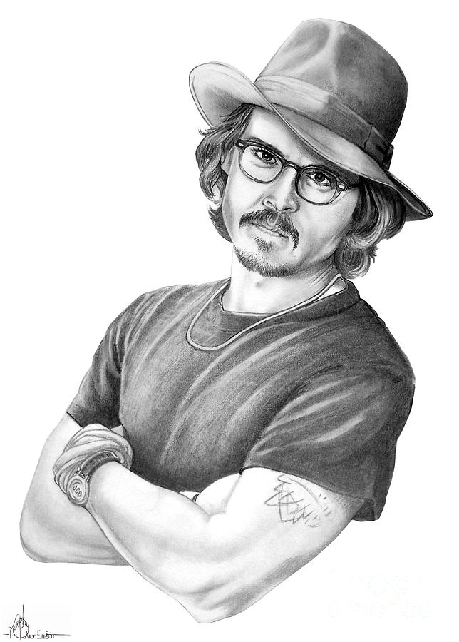 Johnny Depp Drawing  - Johnny Depp Fine Art Print