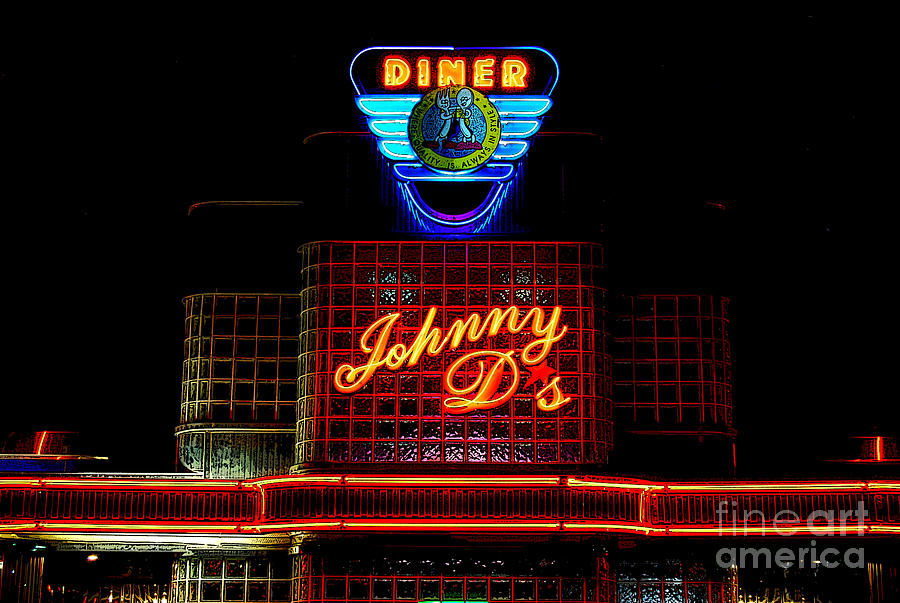 Diner Photograph - Johnny Ds by Guy Harnett