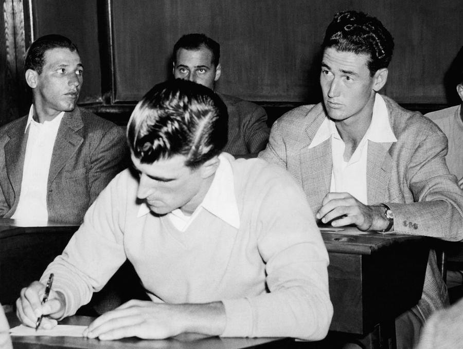Johnny Presky Left, Ted Williams Right Photograph