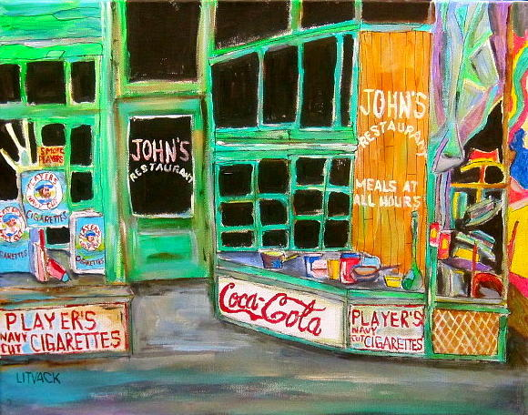 Johns Restaurant Painting