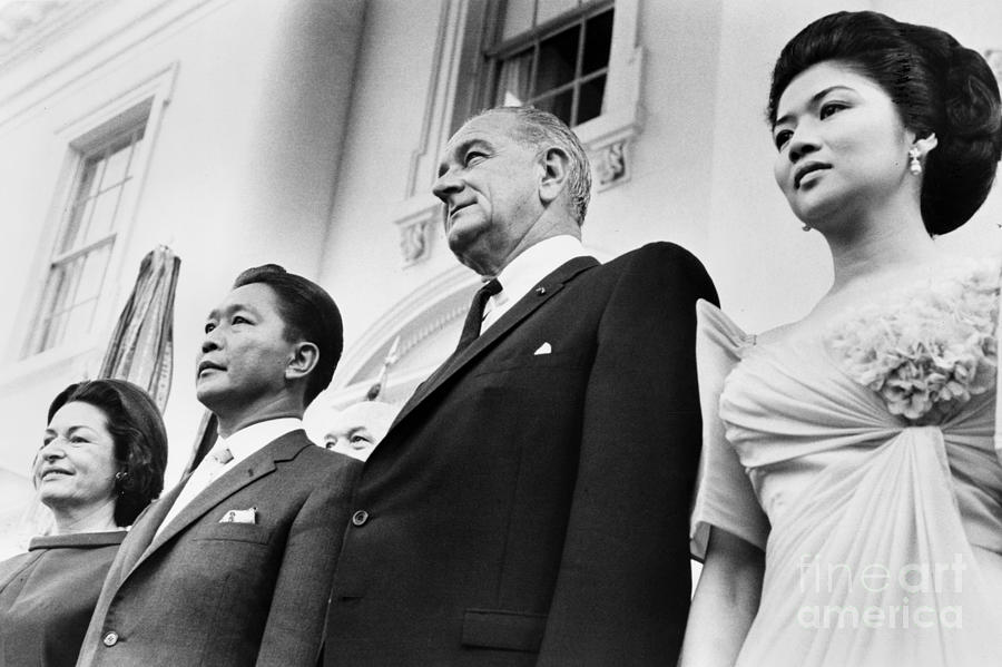 Johnson And Marcos, 1966 Photograph