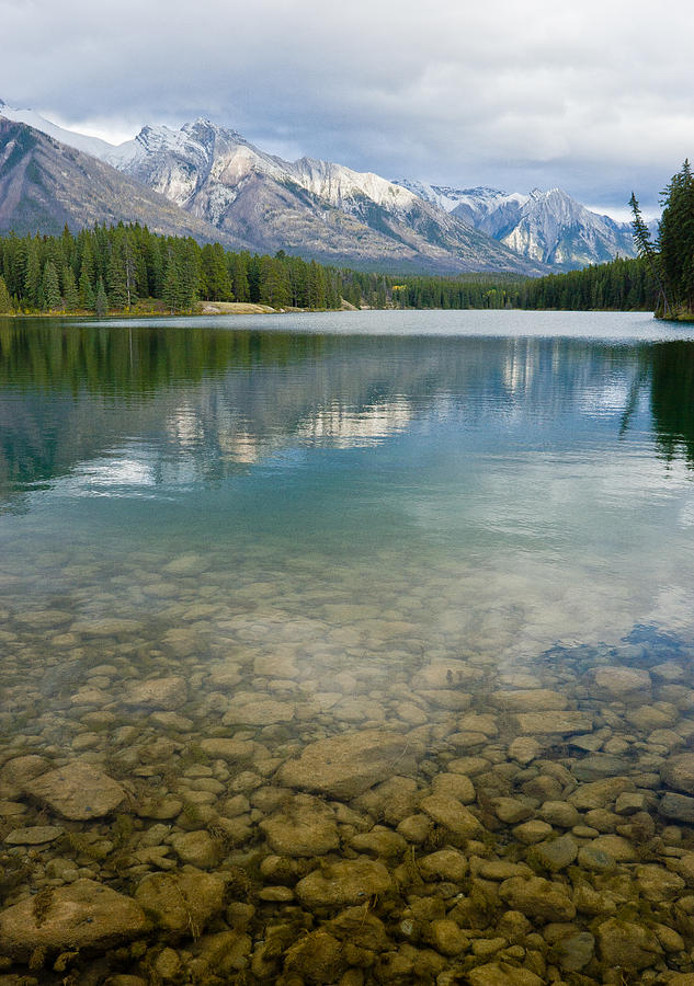 Johnson Lake Photograph - Johnson Lake Rocks by Adam Pender
