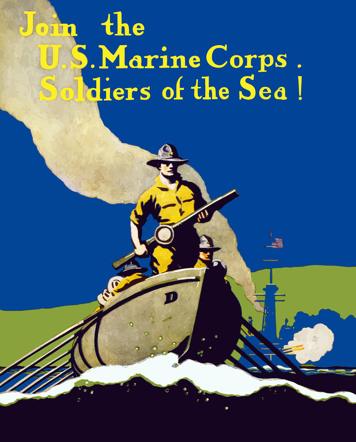 Join The Us Marines Corps Painting  - Join The Us Marines Corps Fine Art Print