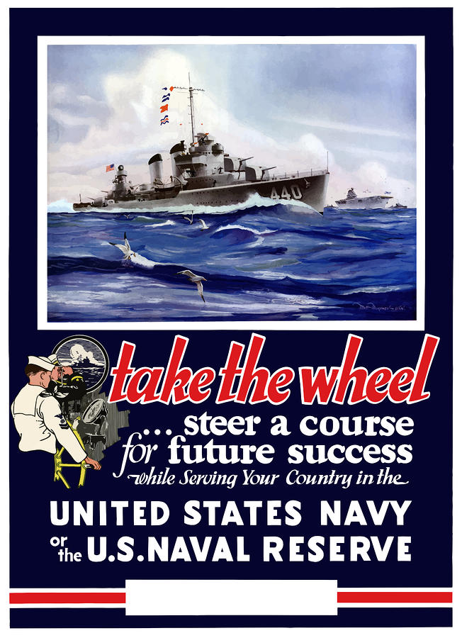 Join The Us Navy Painting  - Join The Us Navy Fine Art Print
