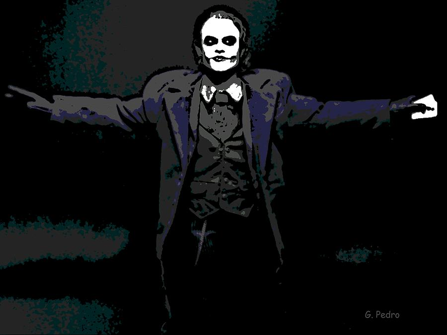 Joker Drawing  - Joker Fine Art Print