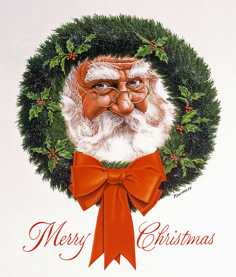Jolly Old Saint Nick Painting  - Jolly Old Saint Nick Fine Art Print