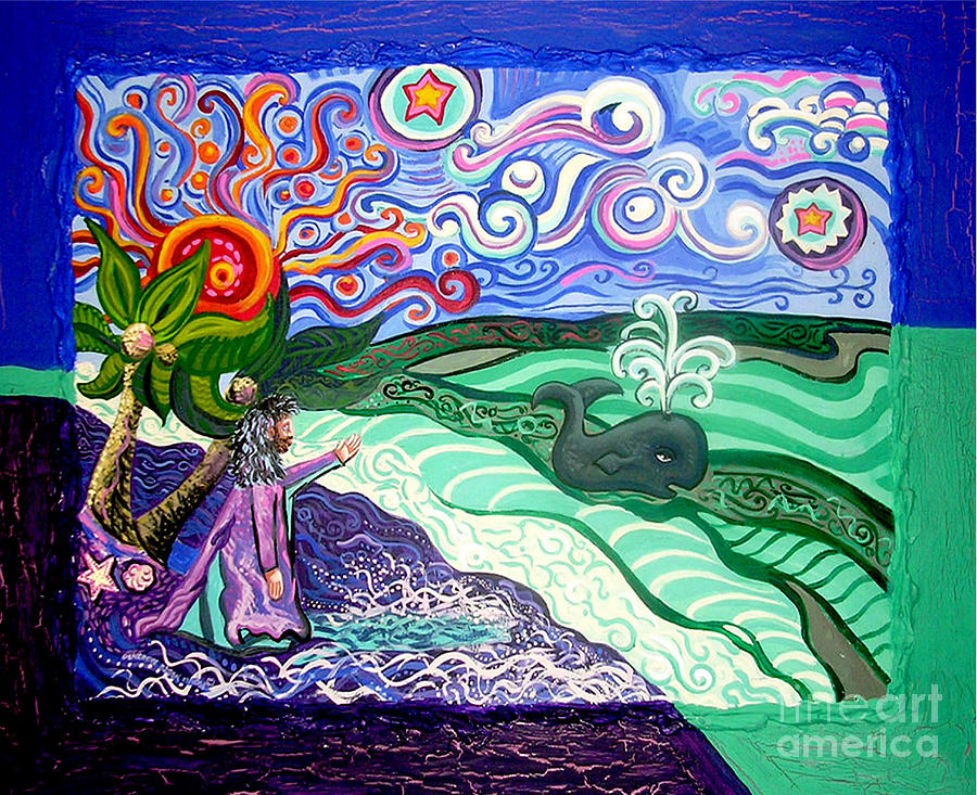 Jonah And The Whale Painting  - Jonah And The Whale Fine Art Print