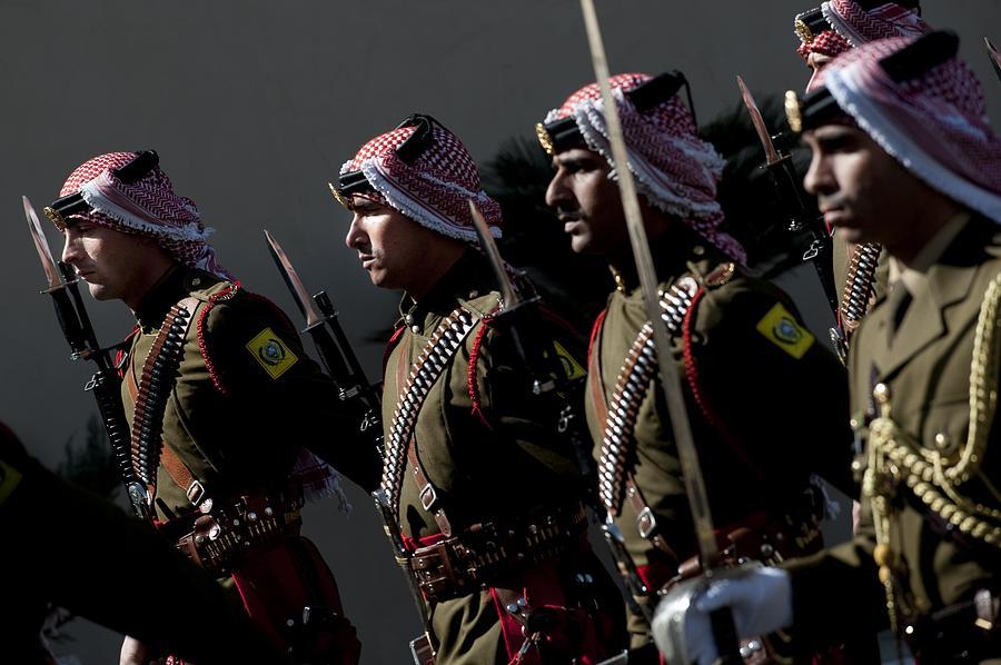 Jordanian Honor Guardsmen Welcome Photograph