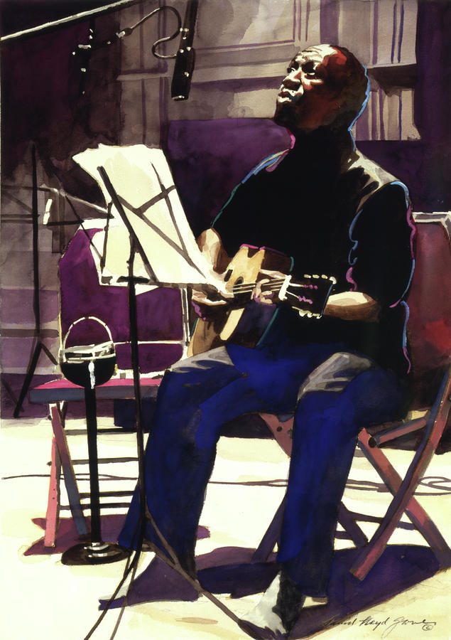 Josh White Singing The Blues Painting  - Josh White Singing The Blues Fine Art Print