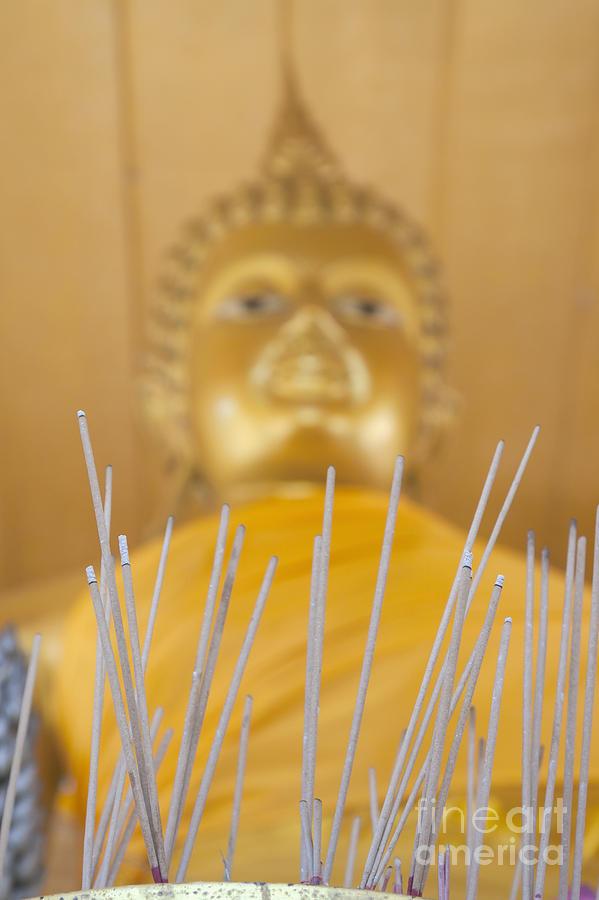 Asia Photograph - Joss Sticks by Roberto Morgenthaler