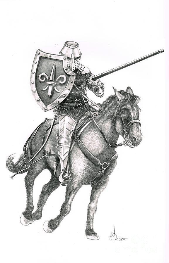 Jousting is a drawing by Murphy Elliott which was uploaded on ...