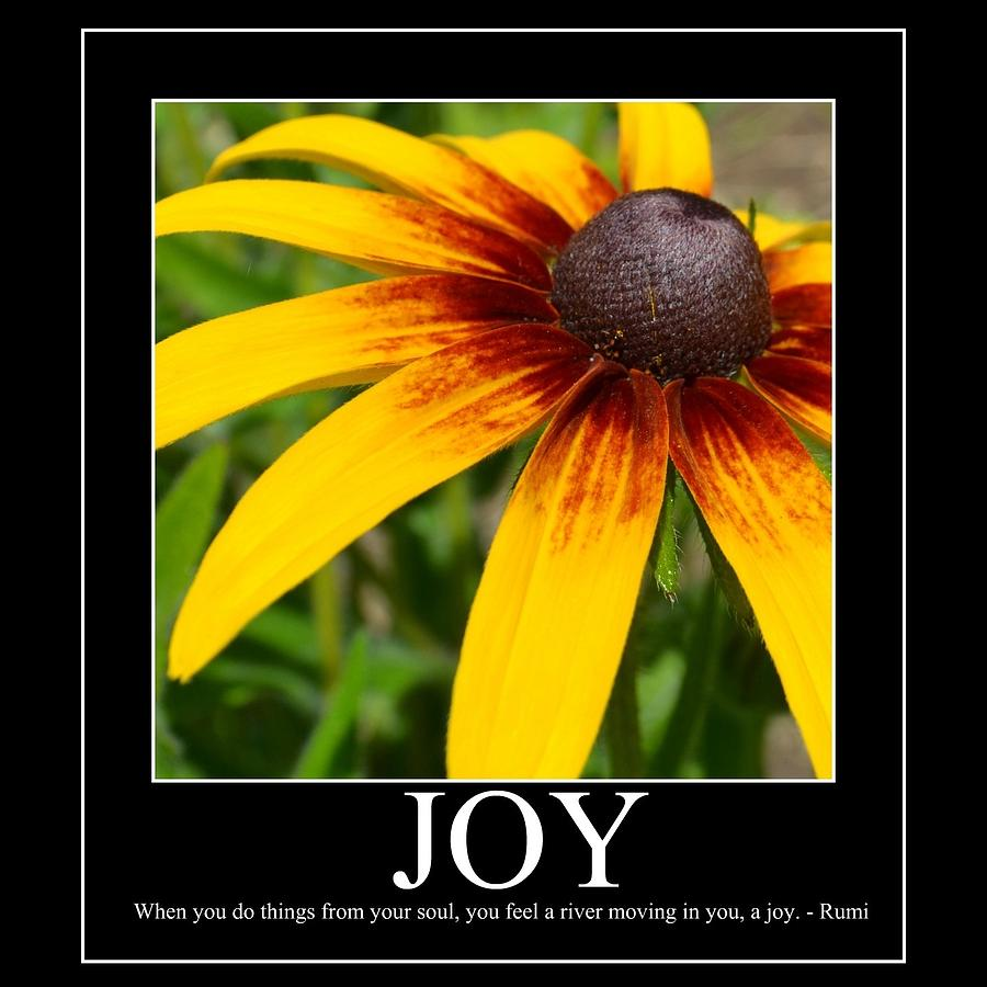 ... Floral Photograph - Joy Inspirational Poetry Floral Fine Art Print