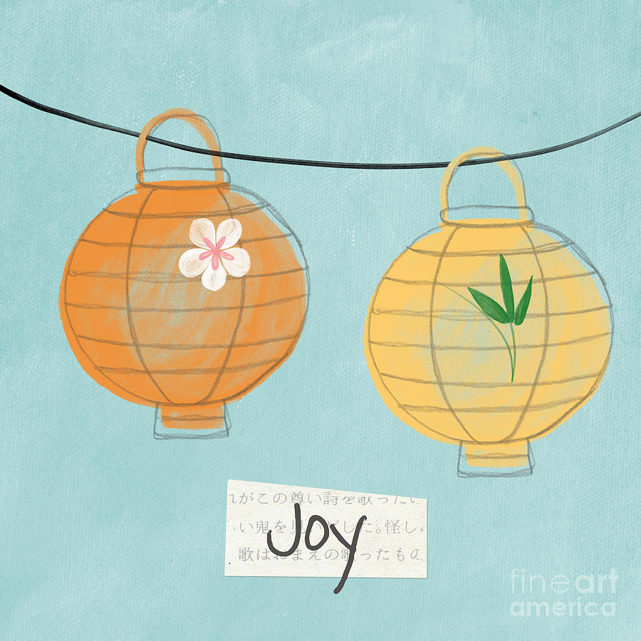 Joy Lanterns Painting  - Joy Lanterns Fine Art Print