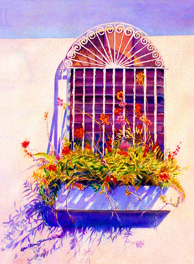 Joyful Window Painting  - Joyful Window Fine Art Print