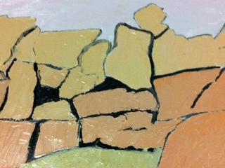 Landscape Joshua Tree Painting - Jt Rocks by Frederick Fulmer