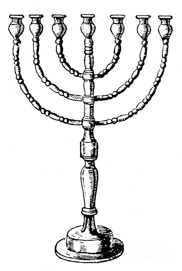 Judaism: Menorah Photograph by Granger - Judaism: Menorah Fine Art ...