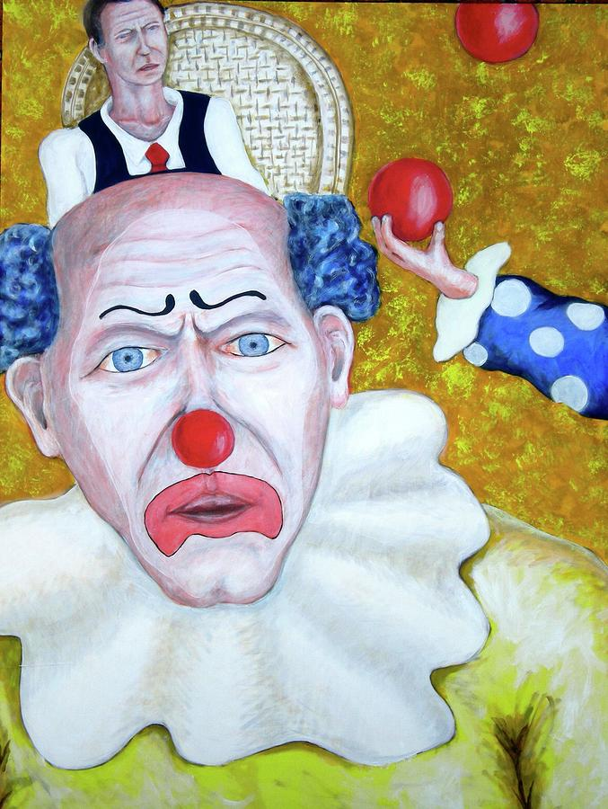 Jugglers And Clowns Painting  - Jugglers And Clowns Fine Art Print