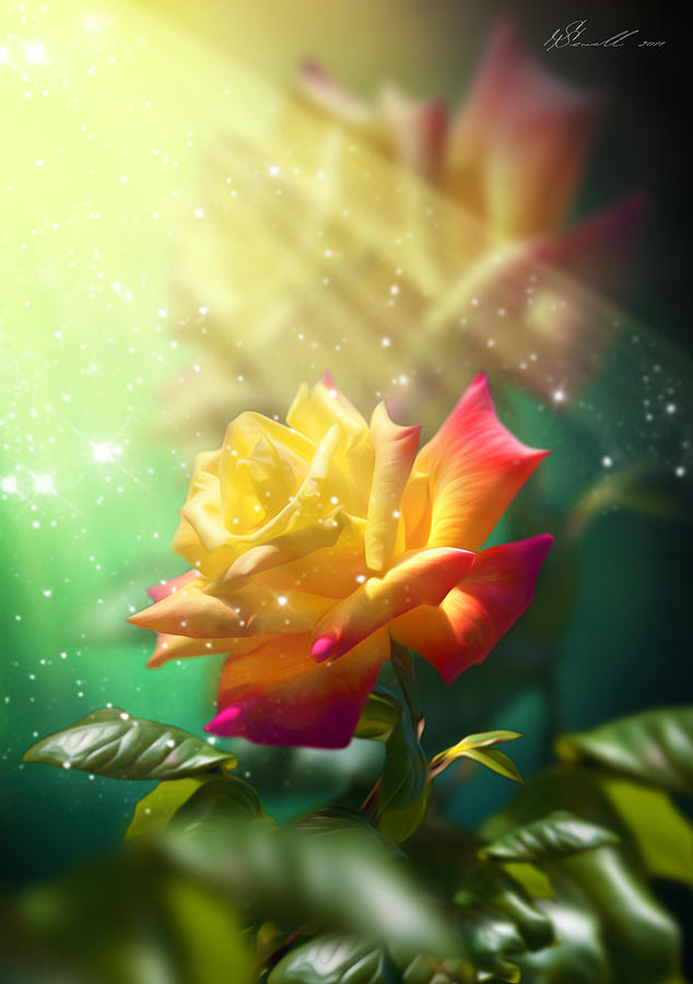 Juicy Rose Digital Art
