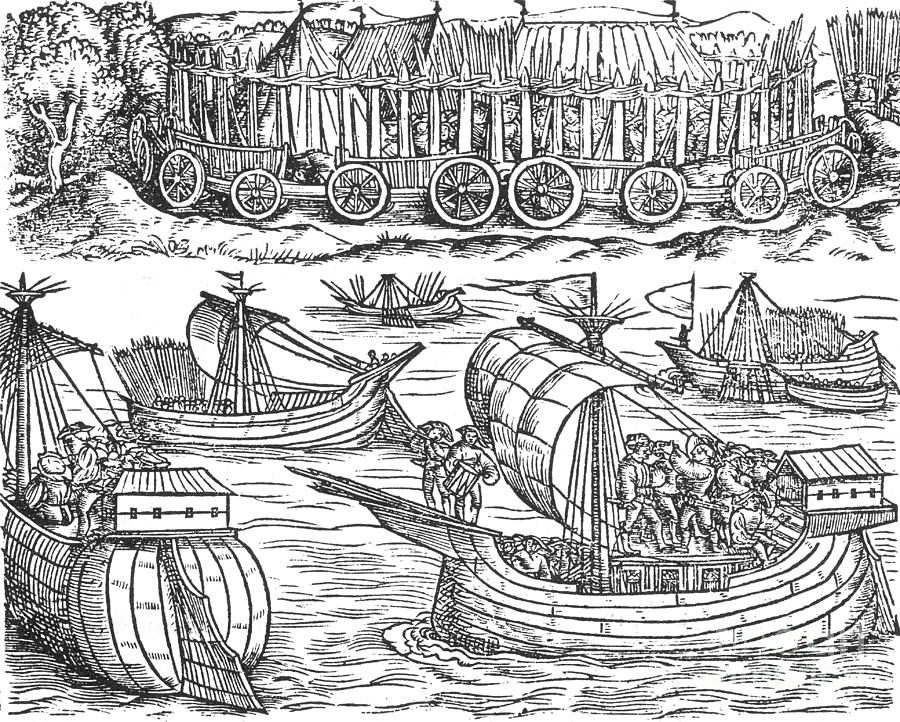 Julius Caesar Sailing The Thames 54 Bc Photograph