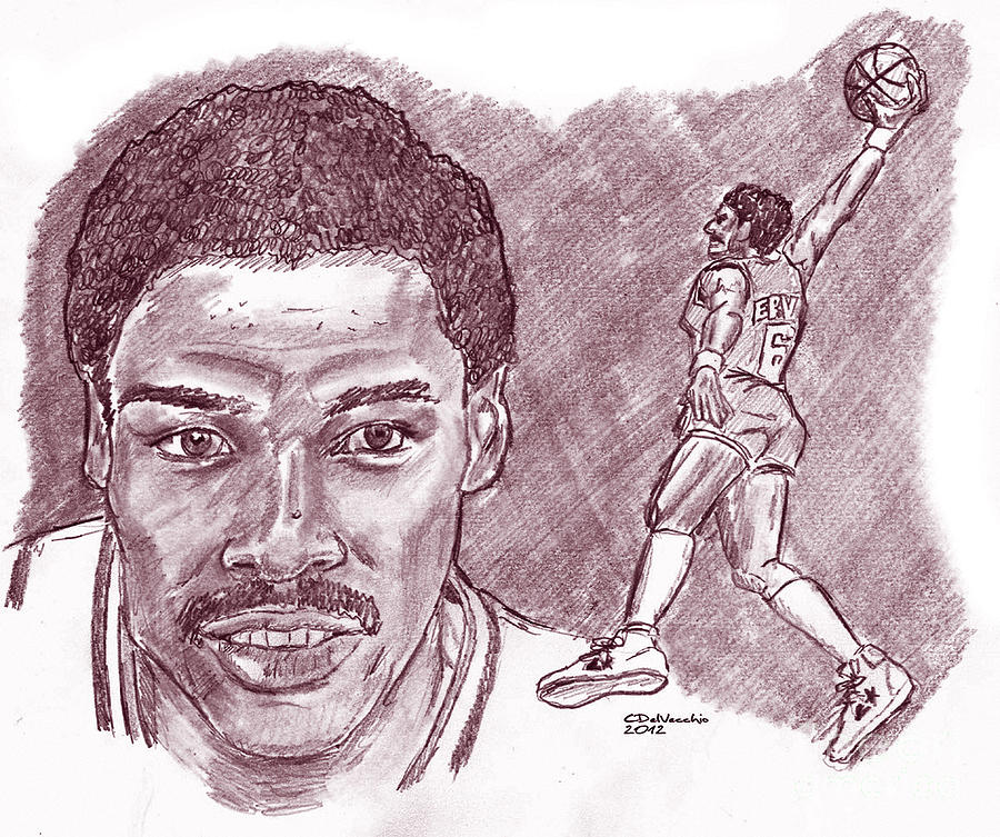 Julius Erving Drj Drawing