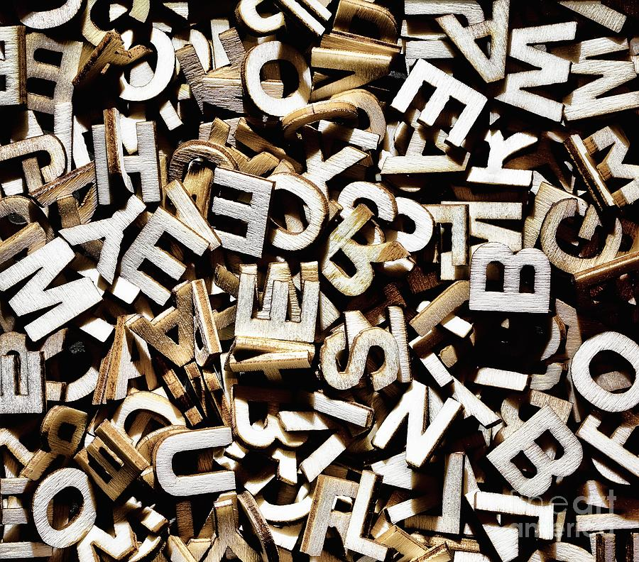 Jumbled Letters is a photograph by Simon Bratt Photography LRPS which ...