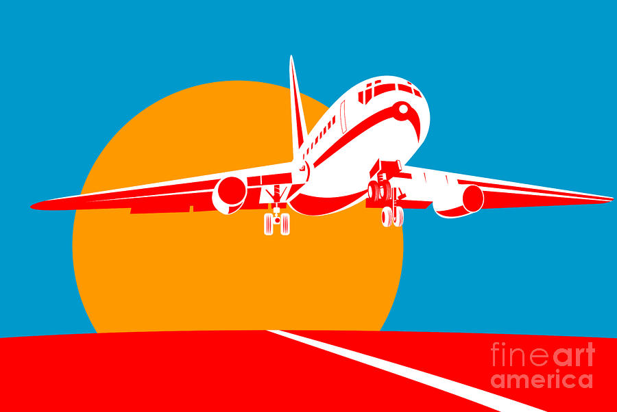 Jumbo Jet  Digital Art