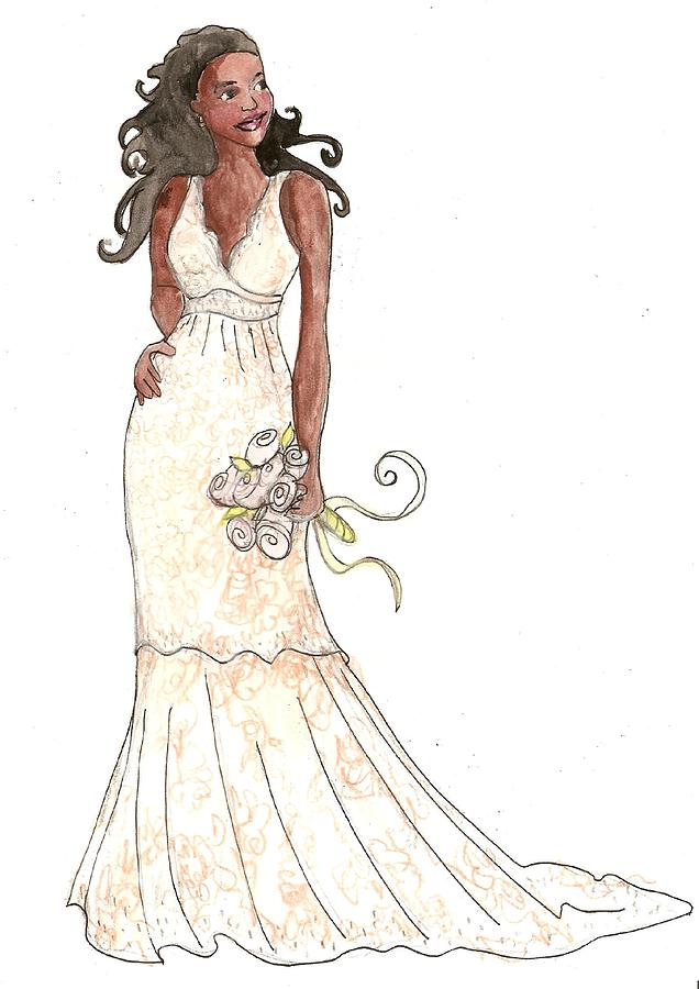 June Bride Fashion Painting