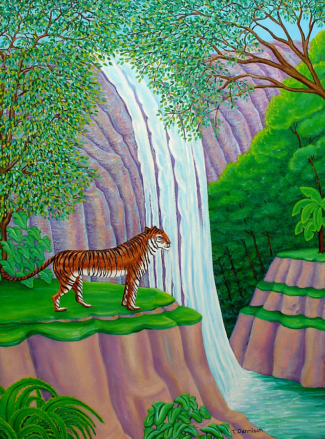 Jungle Cat Painting  - Jungle Cat Fine Art Print