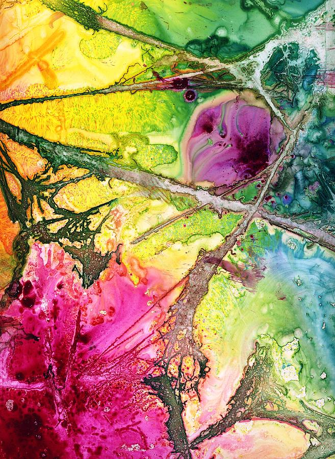 Jungle Flowers Painting By Bj Clausen