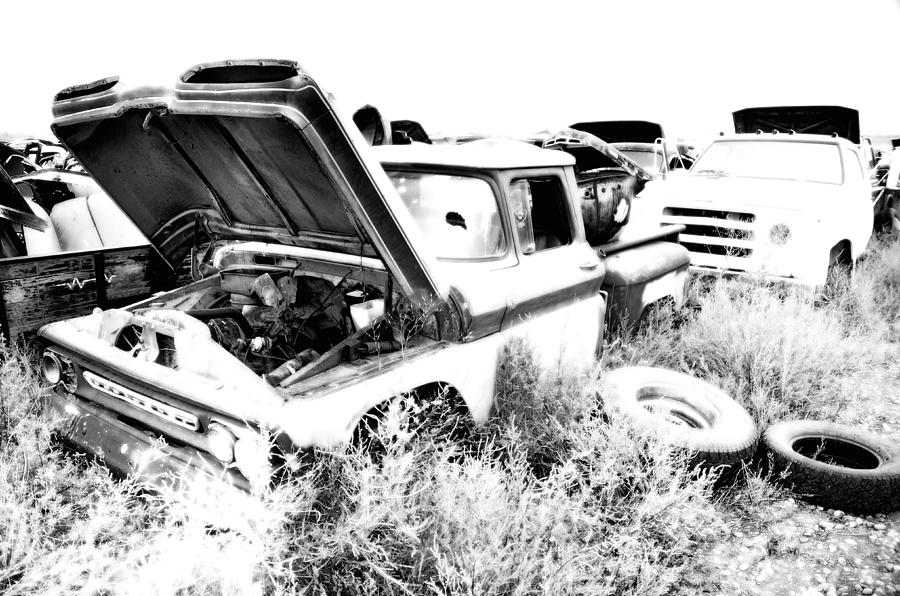 Truck Photograph - Junkyard Infrared 2 by Matthew Angelo