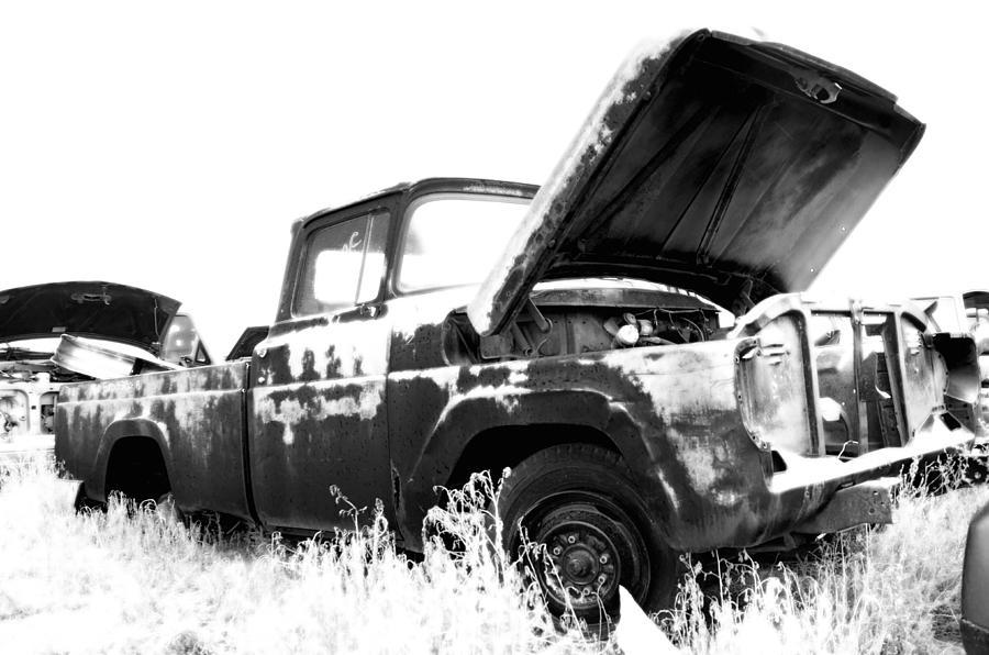 Truck Photograph - Junkyard Pickup by Matthew Angelo
