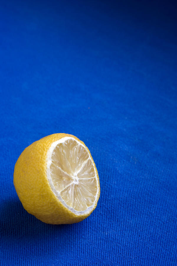 Just A Lemon Photograph  - Just A Lemon Fine Art Print