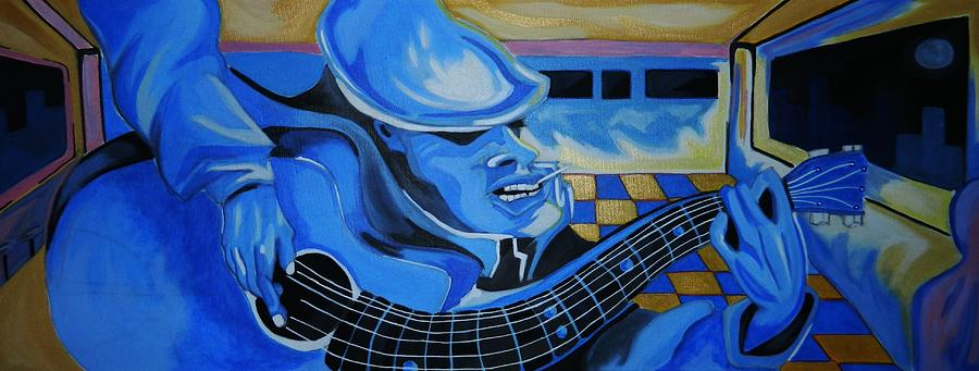 Just Playing The Blues Painting  - Just Playing The Blues Fine Art Print